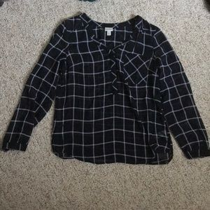 Black patterned dress shirt